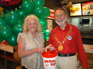 Collecting for Ronald McDonald House, with Subiaco Mayor, Heather Henderson, November 2012